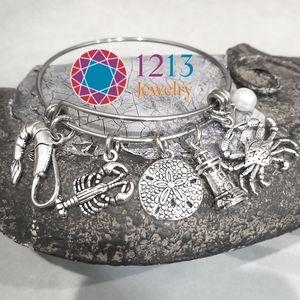Artist Created PEARL Nautical Bracelet Expandable